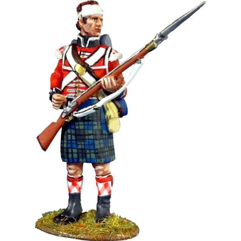 NP 372 Regimiento Real escocés número 42 Black Watch herido recargando