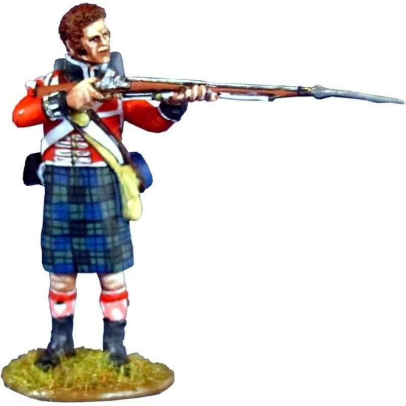 42th Royal highlanders regiment Black Watch bareheaded standing firing