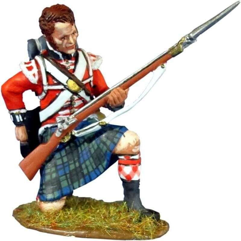 42th Royal highlanders regiment Black Watch kneeling reloading 1