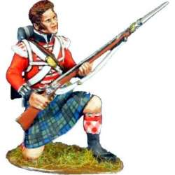 NP 375 42th Royal highlanders regiment Black Watch bareheaded kneeling reloading