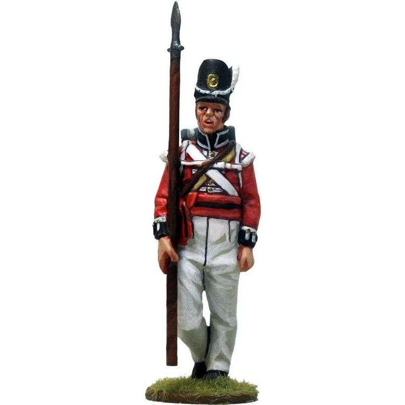NP 640 Sargento escolta bandera Regimiento de Watteville Canada 1813