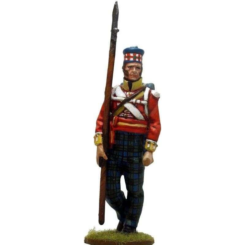 93rd Sutherland highlanders New Orleáns 1814 NCO