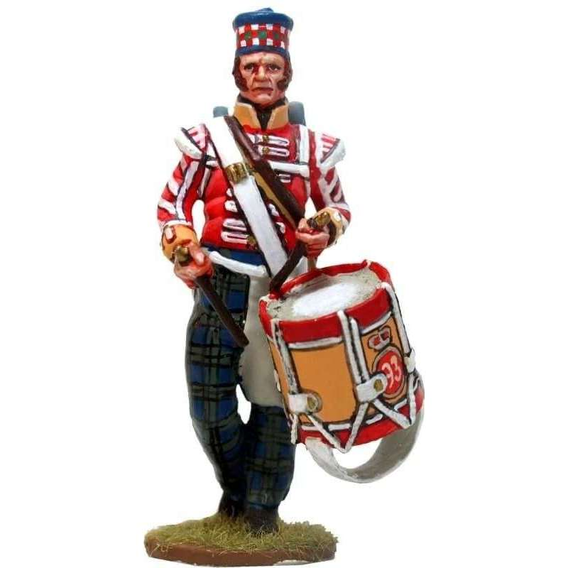 Tambor 93rd Sutherland highlanders New Orleáns 1814