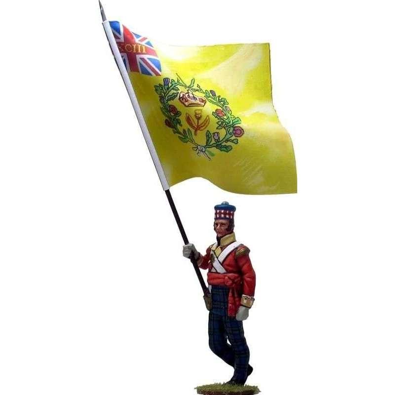 Bandera regimental 93rd Sutherland highlanders New Orleáns 1814