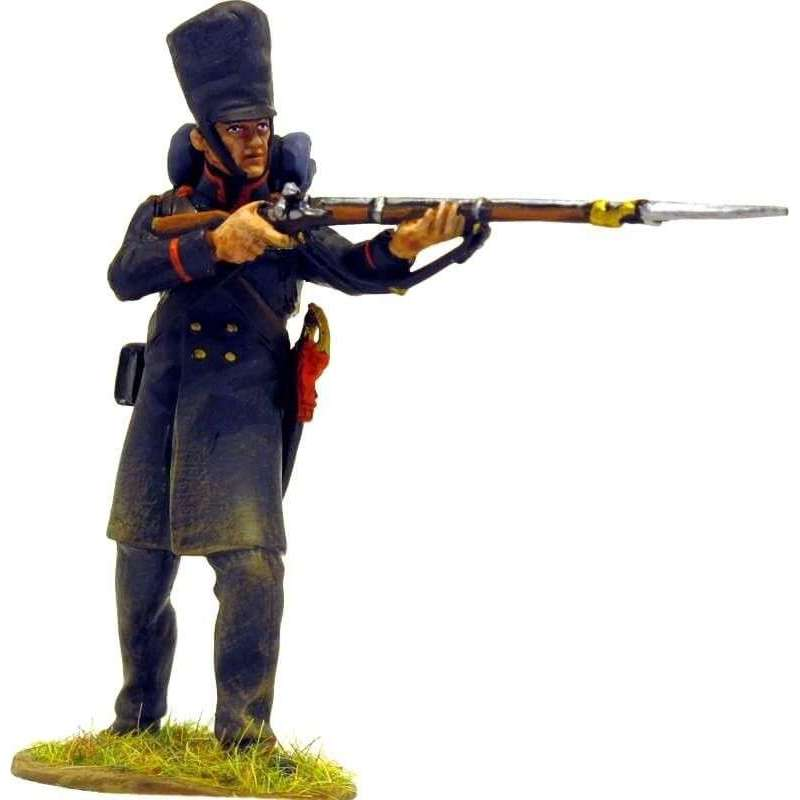 NP 224 Voluntarios de Lutzow formación en cuadro de pie disparando