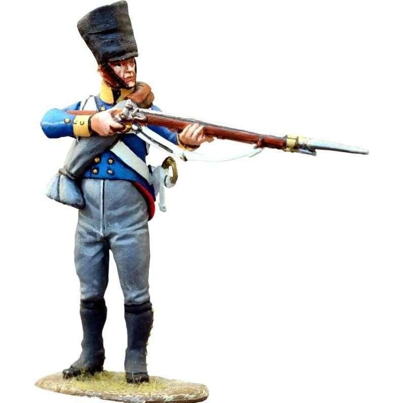 Silesian musketeers standing firing