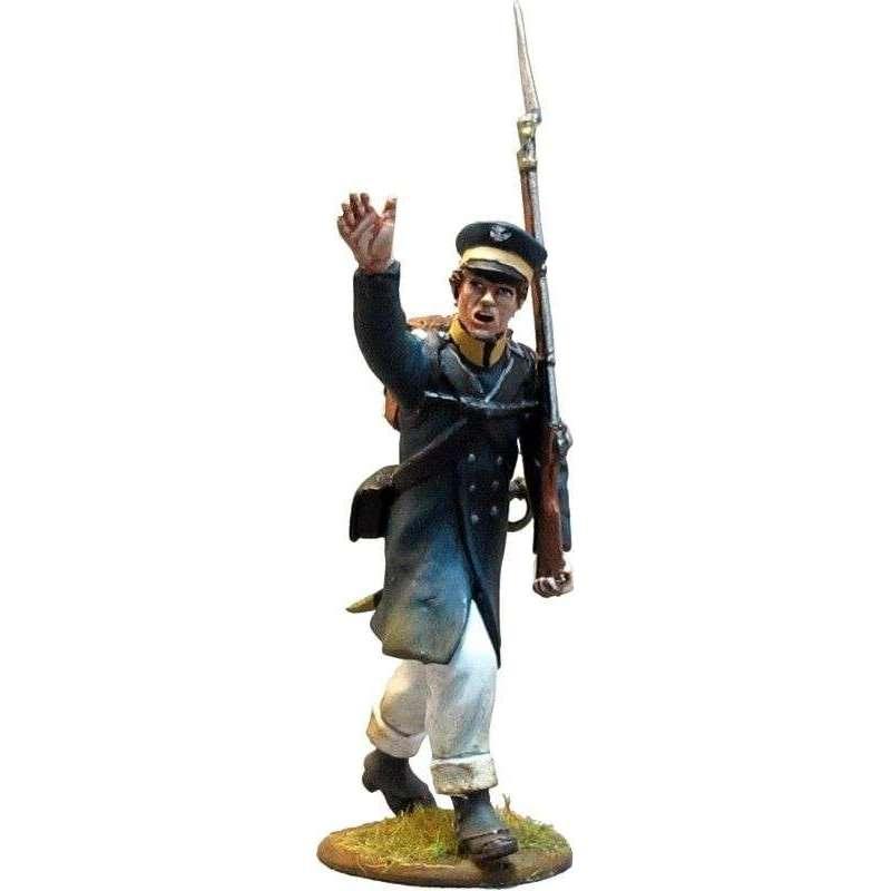 Soldado Prussian Landwehr saludando 1