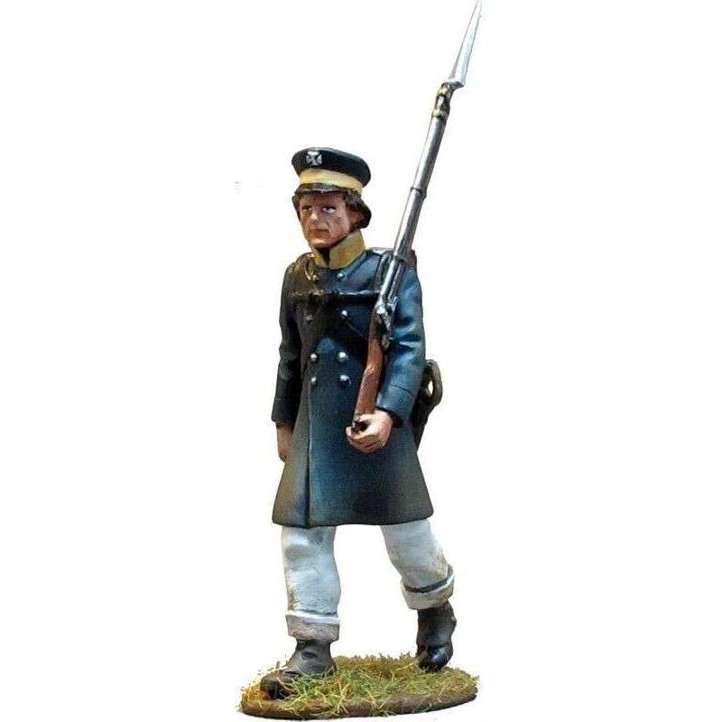 Soldado Prussian Landwehr marchando 1