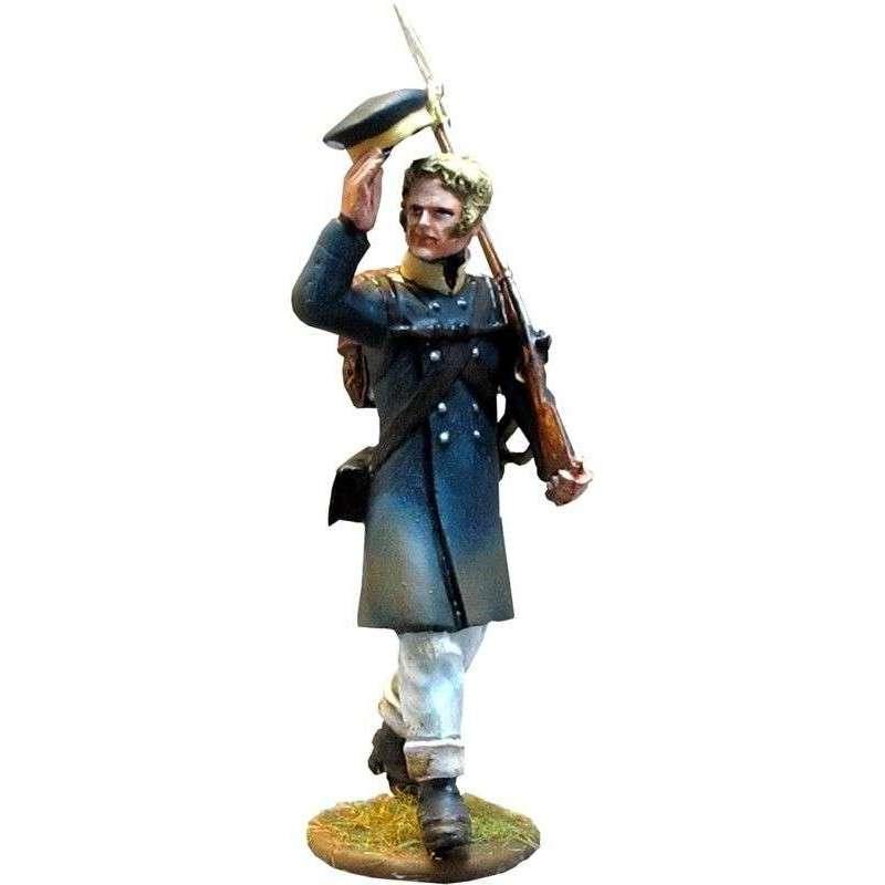 Prussian Landwehr private saluting 2