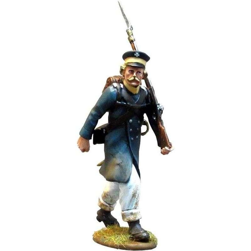 NP 284 Soldado Prussian Landwehr marchando 2