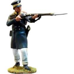 Prussian Landwehr de pie disparando