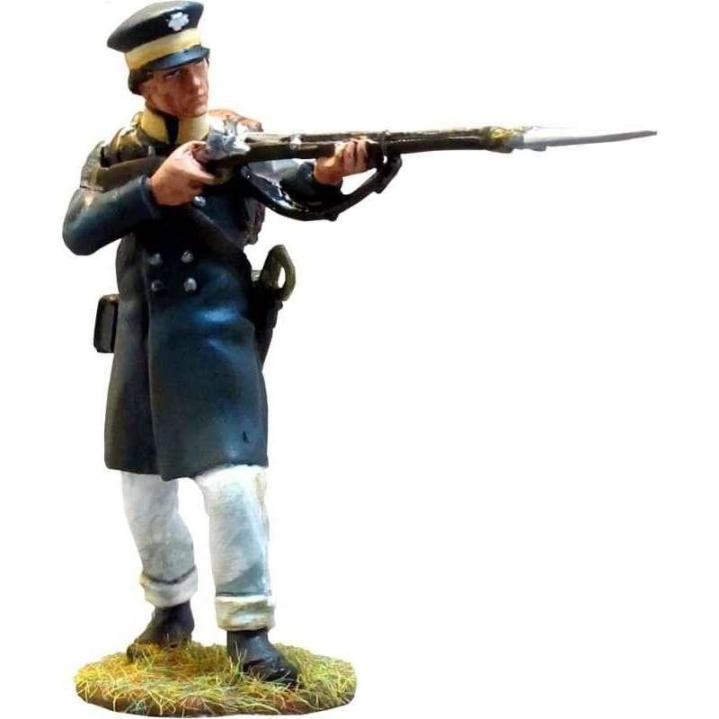 Prussian Landwehr standing firing