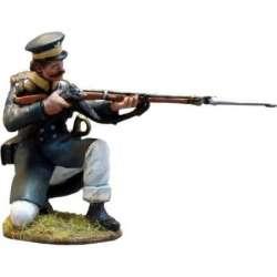 Prussian Landwehr kneeling firing