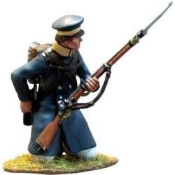 Prussian Landwehr arrodillado cargando
