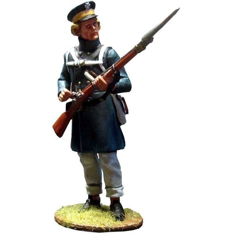 Prussian Landwehr at Grossbeeren preparing the trigger