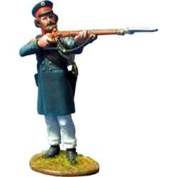 NP 353 toy soldier east prussian landwehr firing