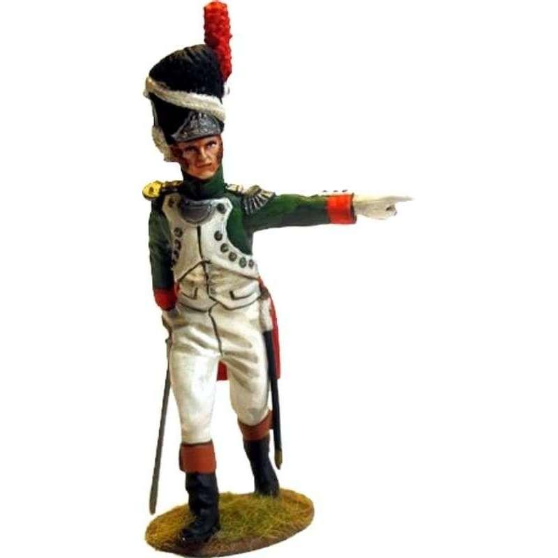 Granadero guardia real italiana dirigiendo avance