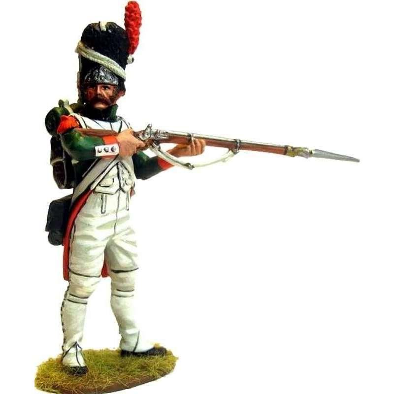 Granadero guardia real italiana pie disparando