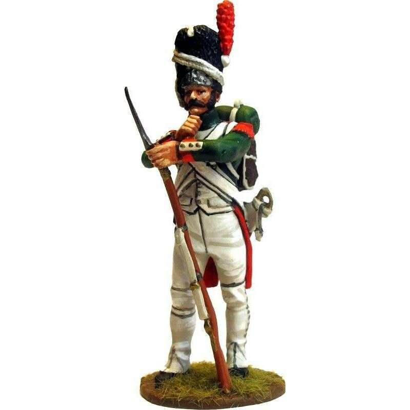 Italian Royal guard grenadier standing at rest 2