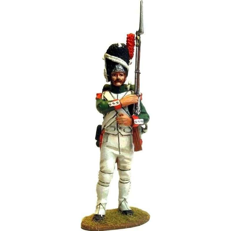 Italian Royal guard grenadier standing at rest 2