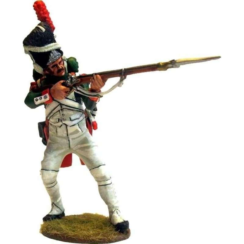 NP 476 Granadero Guardia Real italiana disparando