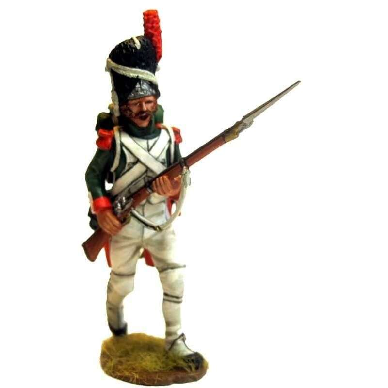 NP 477 Granadero Guardia Real italiana en marcha atacando 2