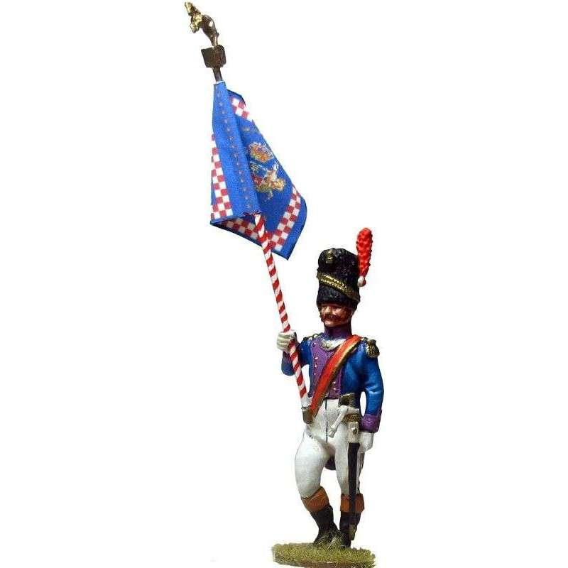 Kingdom of Nápoles Royal guard grenadiers standard bearer