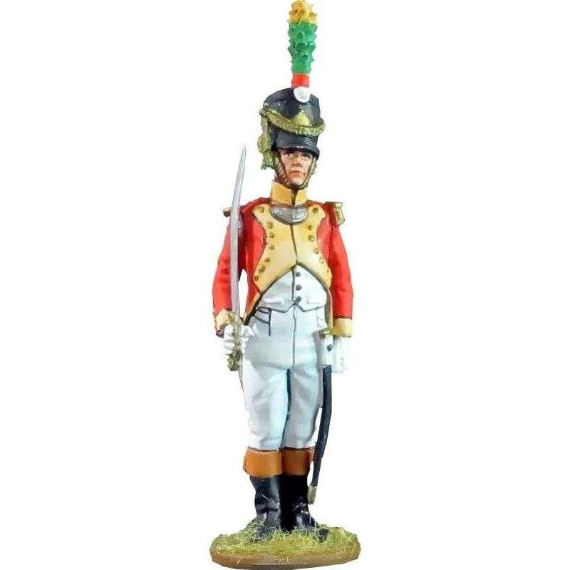 Oficial Segundo batallón velites 1812 Reino de Nápoles