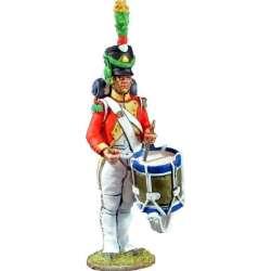 Tambor Segundo batallón velites 1812 Reino de Nápoles