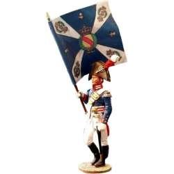 NP 080 toy soldier Baden leibregiment banner