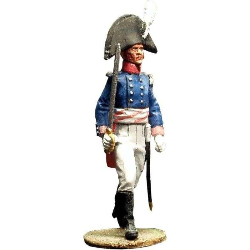 Oficial Primer regimiento infantería Baden