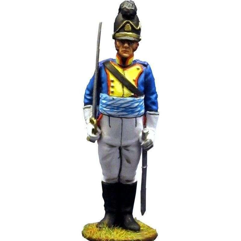Oficial Cuarto regimiento infantería bávaro Sachsen-Hildburghausen 1811