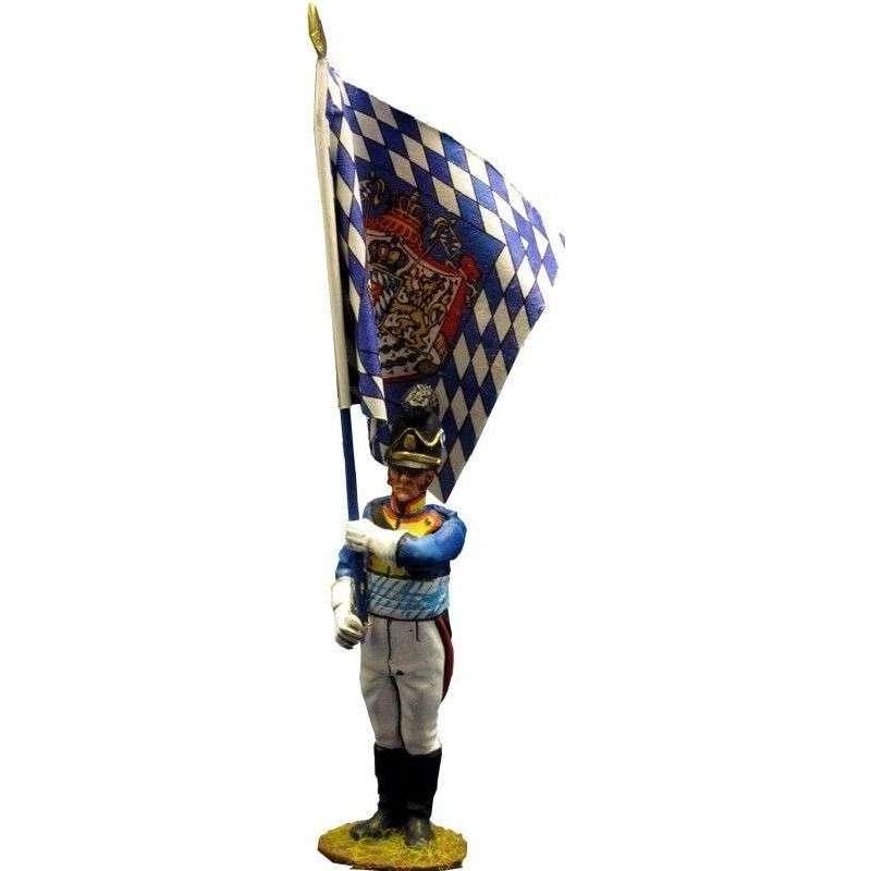 NP 207 Bandera 2 Cuarto regimiento infantería bávaro Sachsen-Hildburghausen 1811