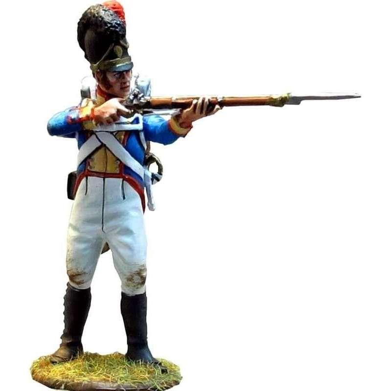 Soldado Cuarto regimiento infantería línea bávaro de pie disparando