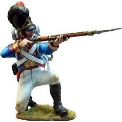 Cuarto regimiento infantería línea bávaro arrodillado disparando