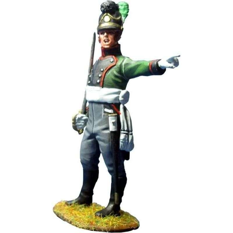 Oficial Cuarto regimiento infantería ligera bávaro