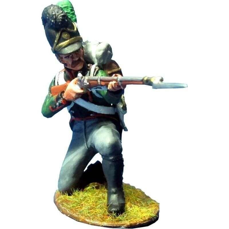 Cuarto regimiento infantería ligera bávaro arrodillado disparando