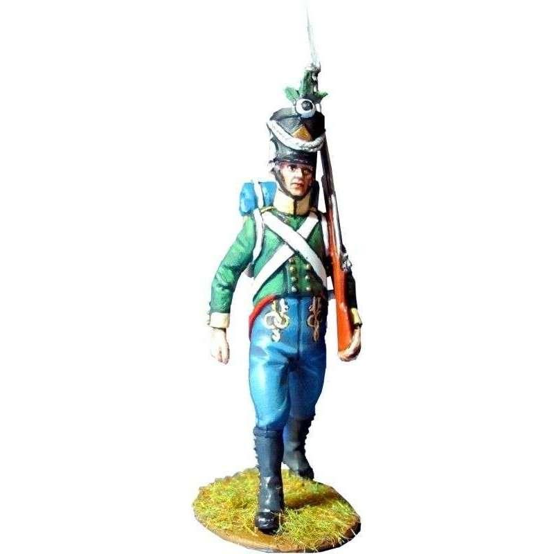 Soldado voltigeur Sajonia-Coburgo