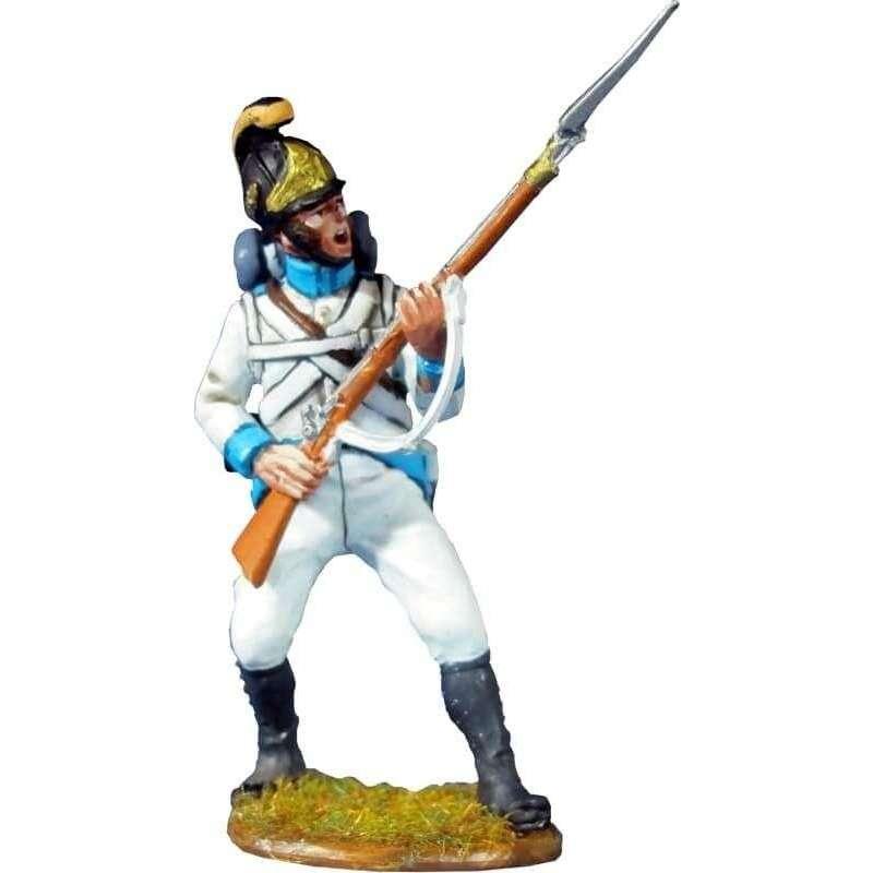 Soldado Regimiento infantería Austriaco Lindenau 1805 pose combate 1