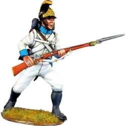 Soldado Regimiento infantería Austriaco Lindenau 1805 pose combate 2