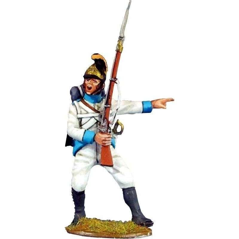 Soldado Regimiento infantería Austriaco Lindenau 1805 pose combate 3