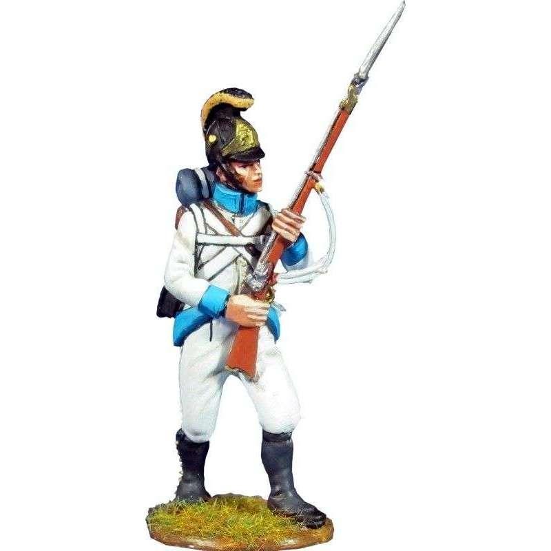 Soldado Regimiento infantería Austriaco Lindenau 1805 pose combate 4