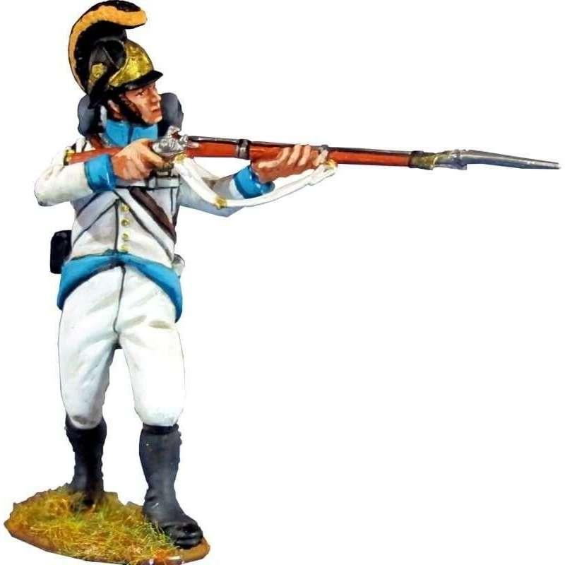 Regimiento infantería Austriaco Lindenau 1805 de pie disparando