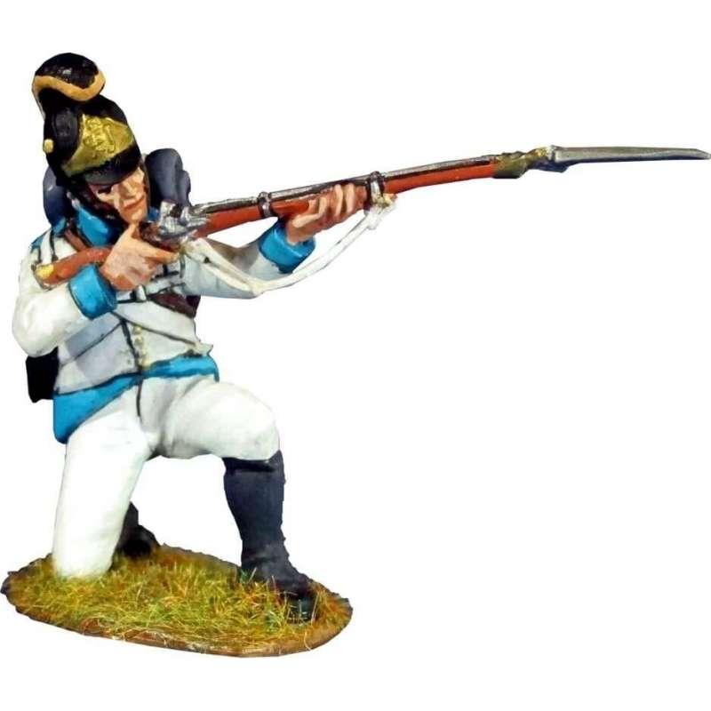 NP 369 Regimiento infantería Austriaco Lindenau 1805 arrodillado disparando