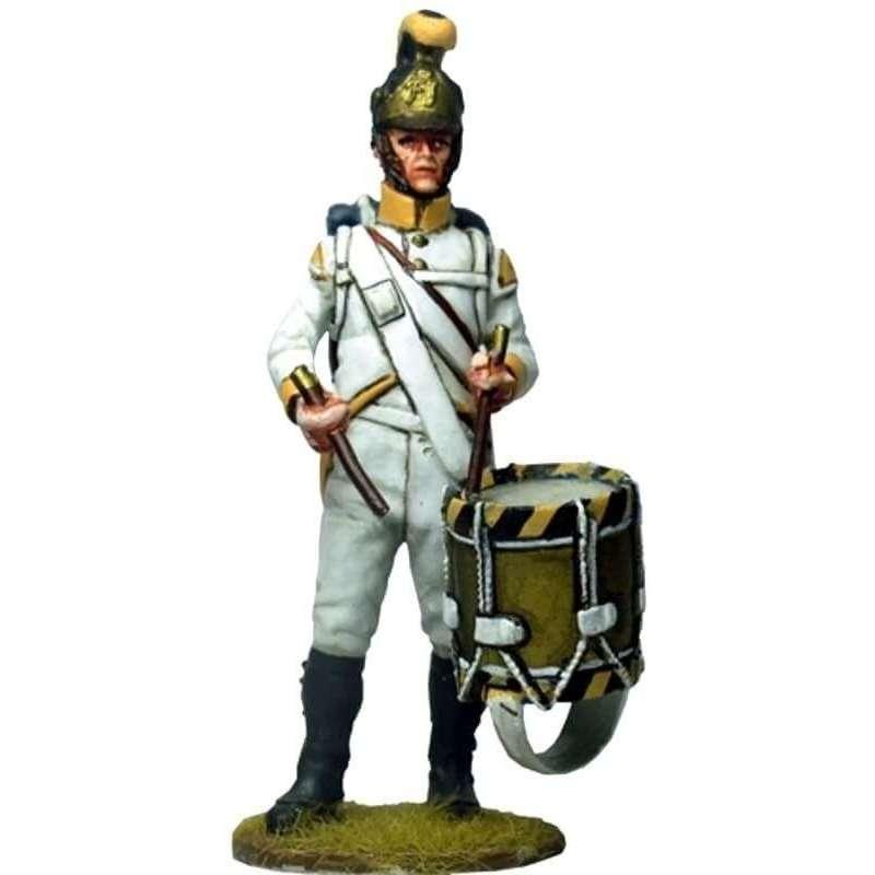 NP 542 Tambor Regimiento 41 infantería austriaco Sachsen-Hildburghausen 1805