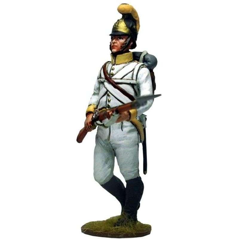 Soldado 3 Regimiento 41 infantería austriaco Sachsen-Hildburghausen 1805