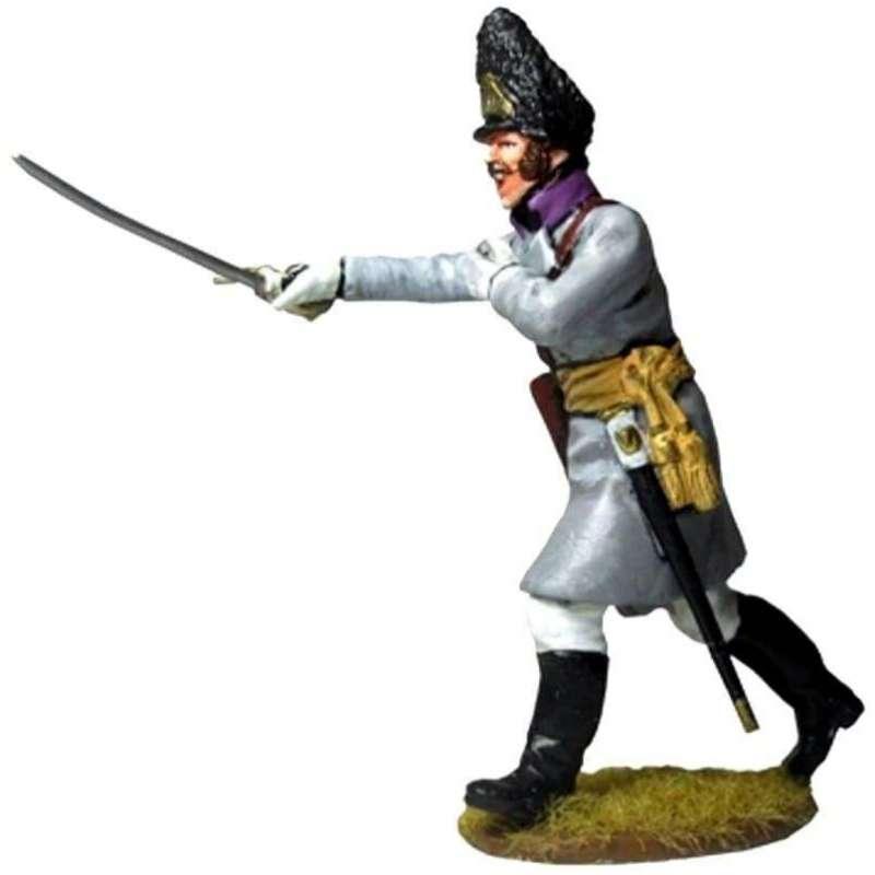 Oficial con abrigo 50th regiment Stein 1809