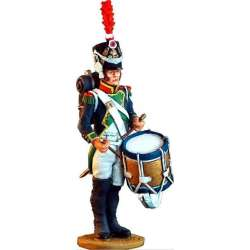 NP 020 Toy soldier tambor fusileros 4º línea