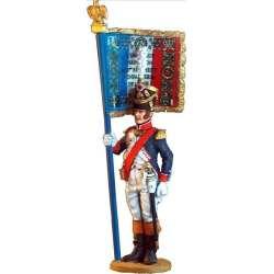 NP 022 Toy soldier abanderado 3º línea 1809