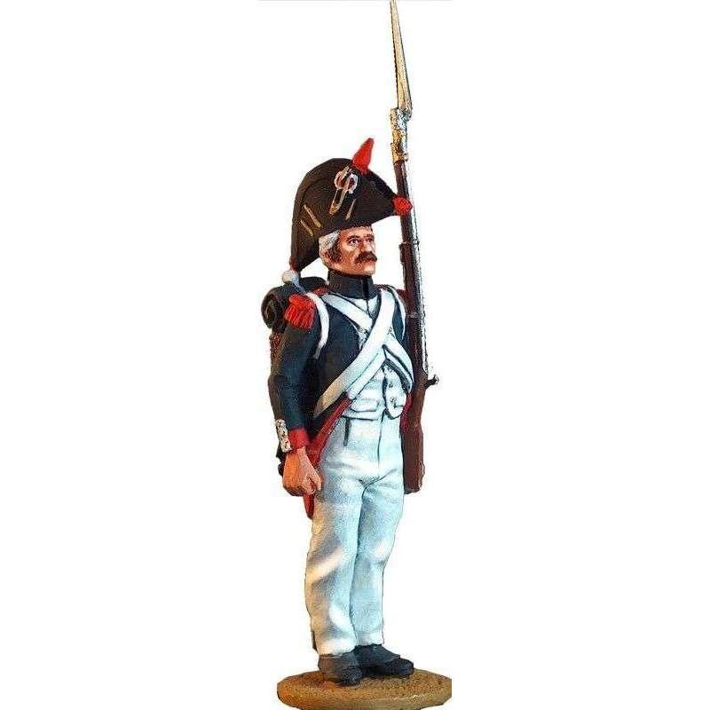 Guardia imperial francesa uniforme de marcha